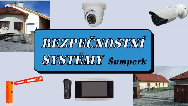Zabezpečení, kamery, brány, závory, domovní videotelefony v Šumperku